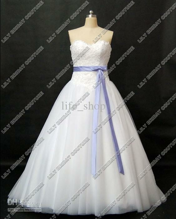 Beautiful Lavender And White Wedding Dresses Images - Styles ...