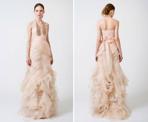 Lazaro Blush wedding dresses Photo - 9