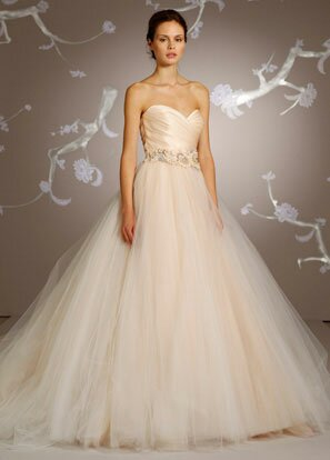 Lazaro Blush wedding dresses Photo - 2