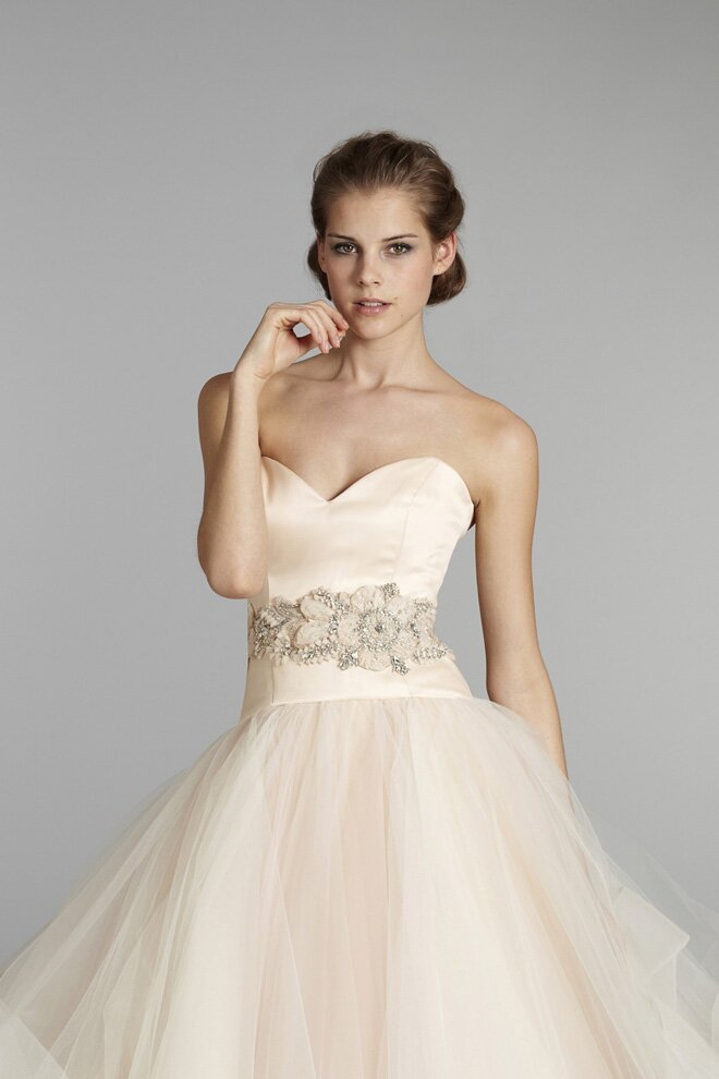 Lazaro Blush wedding dresses Photo - 3