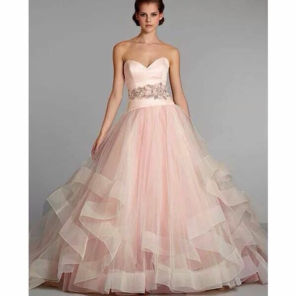 Lazaro Blush wedding dresses Photo - 4