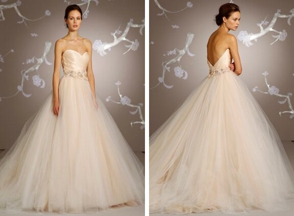 Lazaro Blush wedding dresses Photo - 5