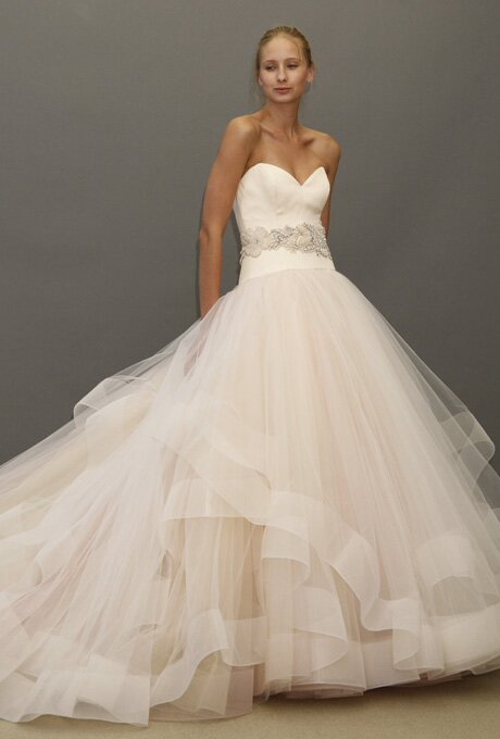 Lazaro Blush wedding dresses Photo - 6