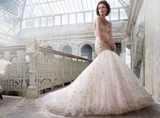 Lazaro Blush wedding dresses Photo - 7