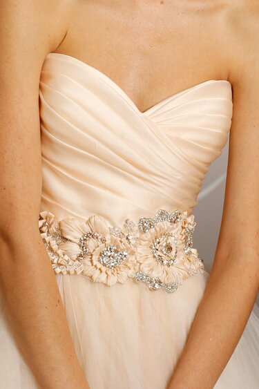 Lazaro Blush wedding dresses Photo - 8