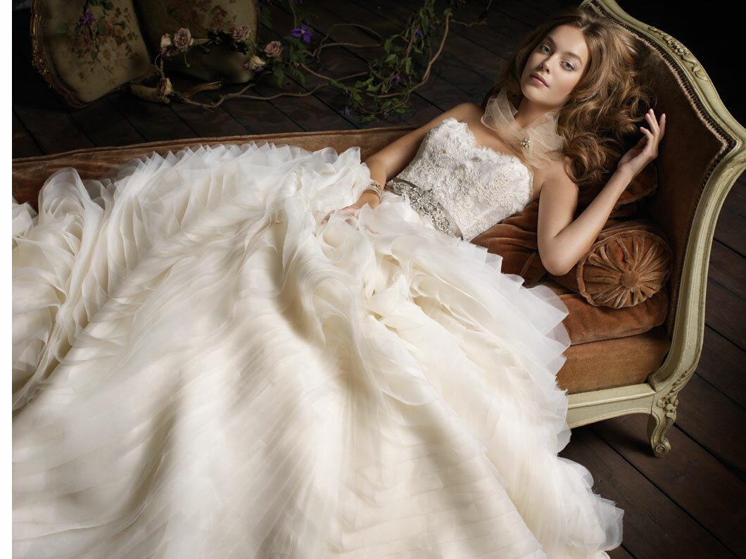 Lazaro Lace wedding dresses Photo - 9