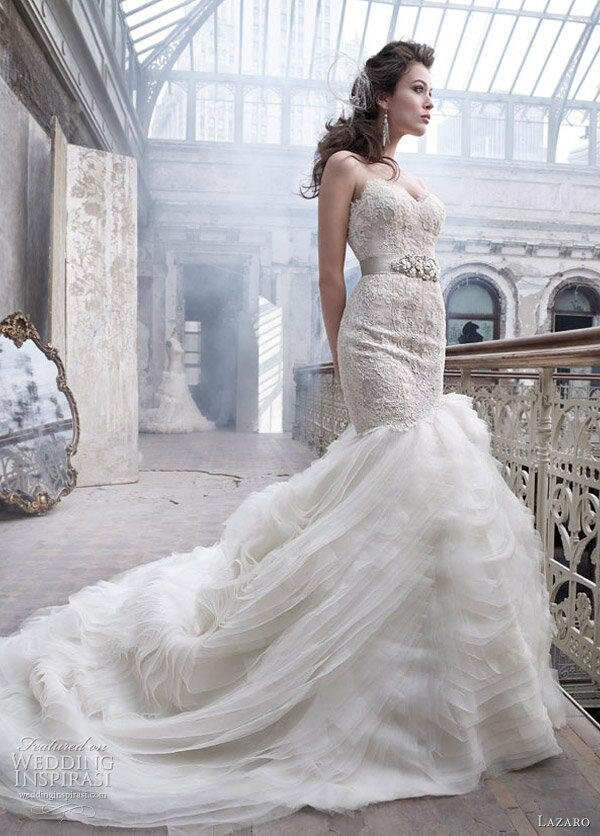 Lazaro Lace wedding dresses Photo - 3