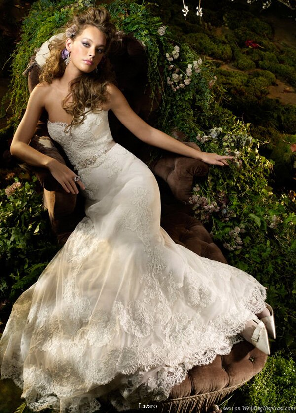 Lazaro Lace wedding dresses Photo - 4