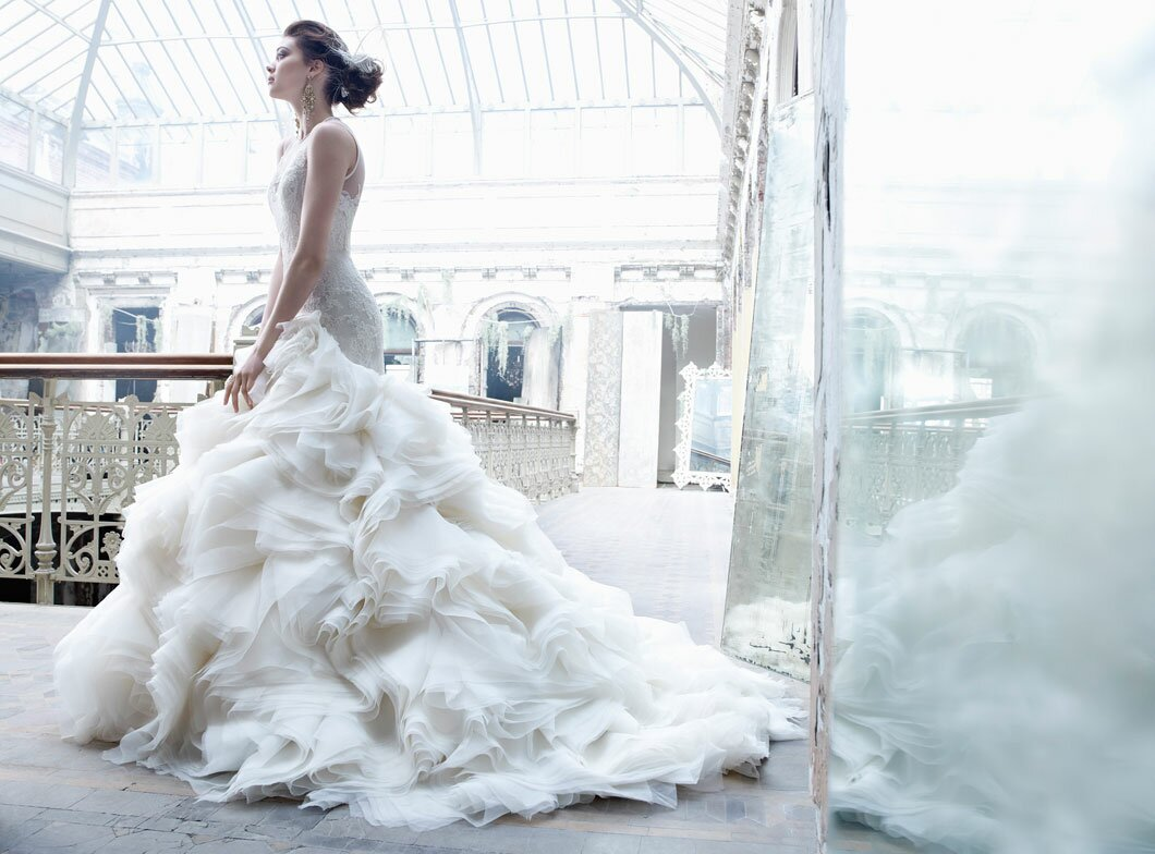 Lazaro Lace wedding dresses Photo - 5