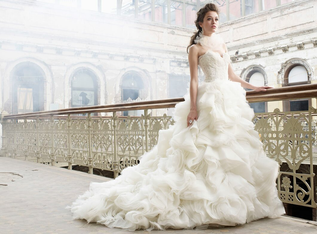 Lazaro Lace wedding dresses Photo - 6