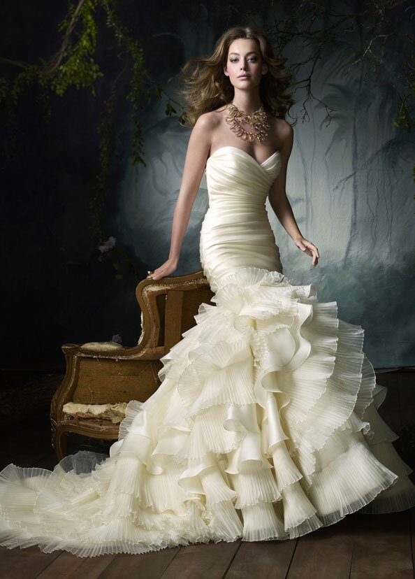 Lazaro Trumpet wedding dresses Photo - 2