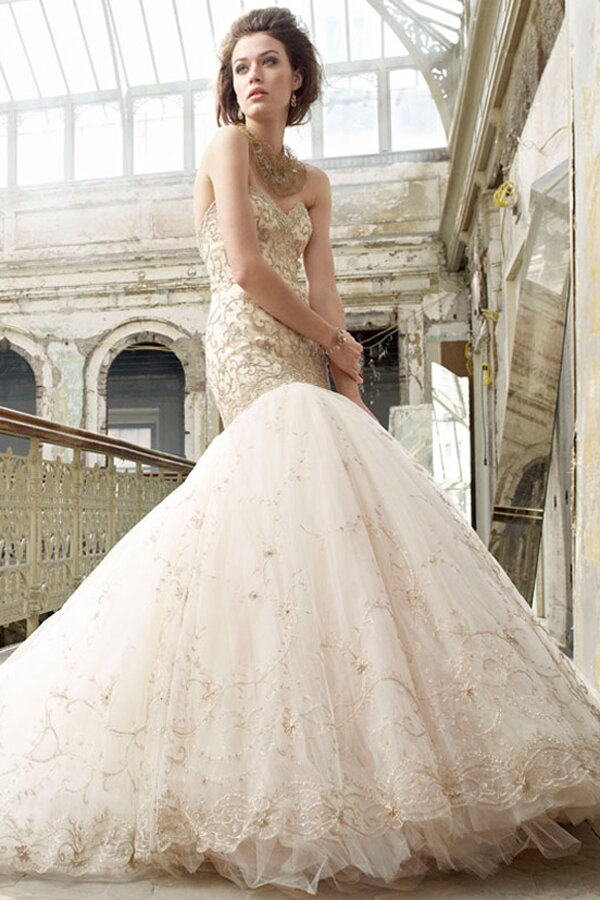 Lazaro Trumpet wedding dresses Photo - 4