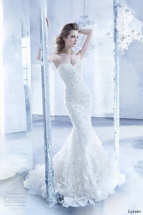 Lazaro Trumpet wedding dresses Photo - 6