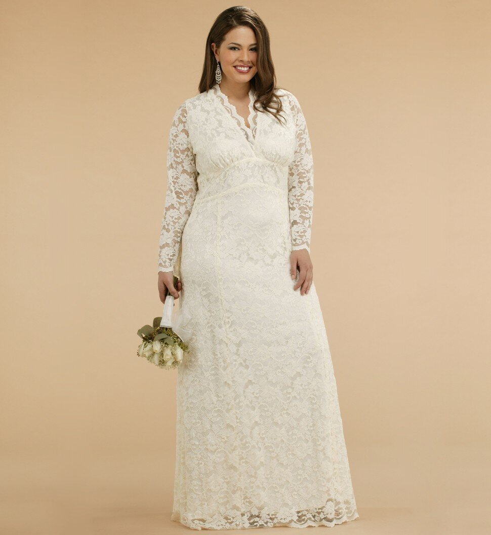 Plus size lace wedding dresses with sleeves pictures ideas guide plus size lace wedding dresses with sleeves photo 2 ombrellifo Images