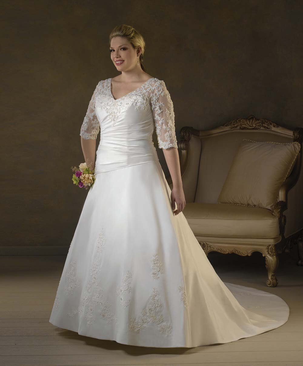Plus size retro wedding dresses Photo - 1