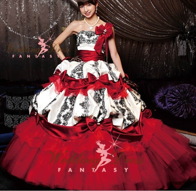 Red Black And White Wedding Dresses Pictures Ideas Guide