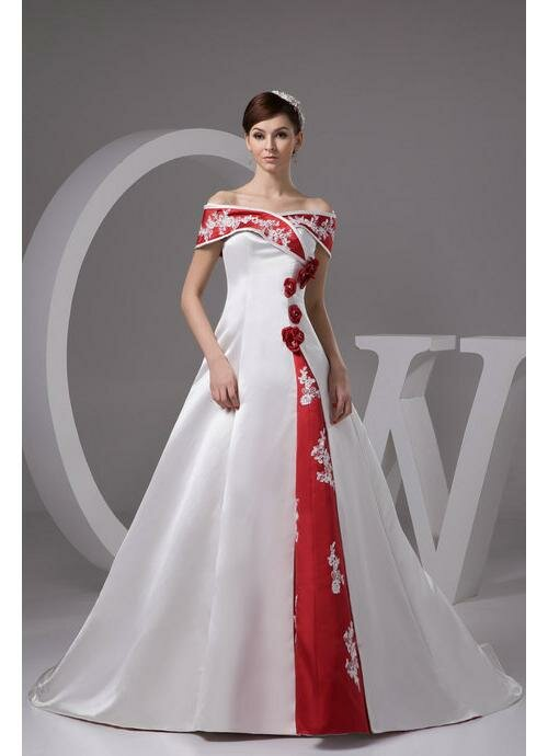 Red n white wedding dresses Photo - 8