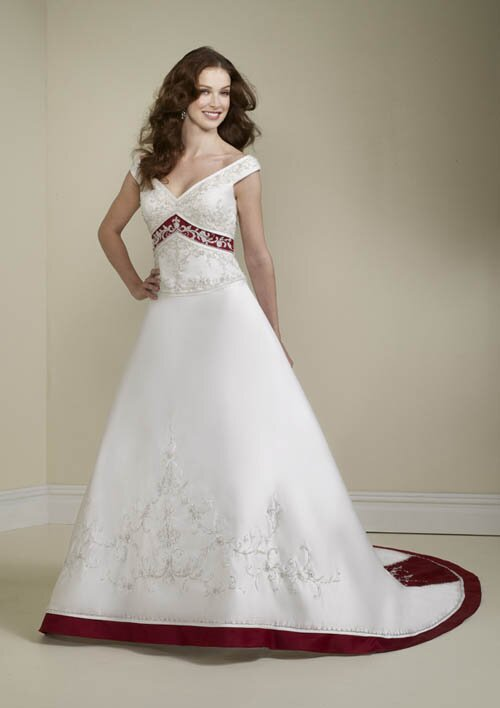 Red white wedding dresses Photo - 1