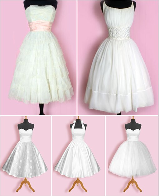 Retro inspired wedding dresses Photo - 2