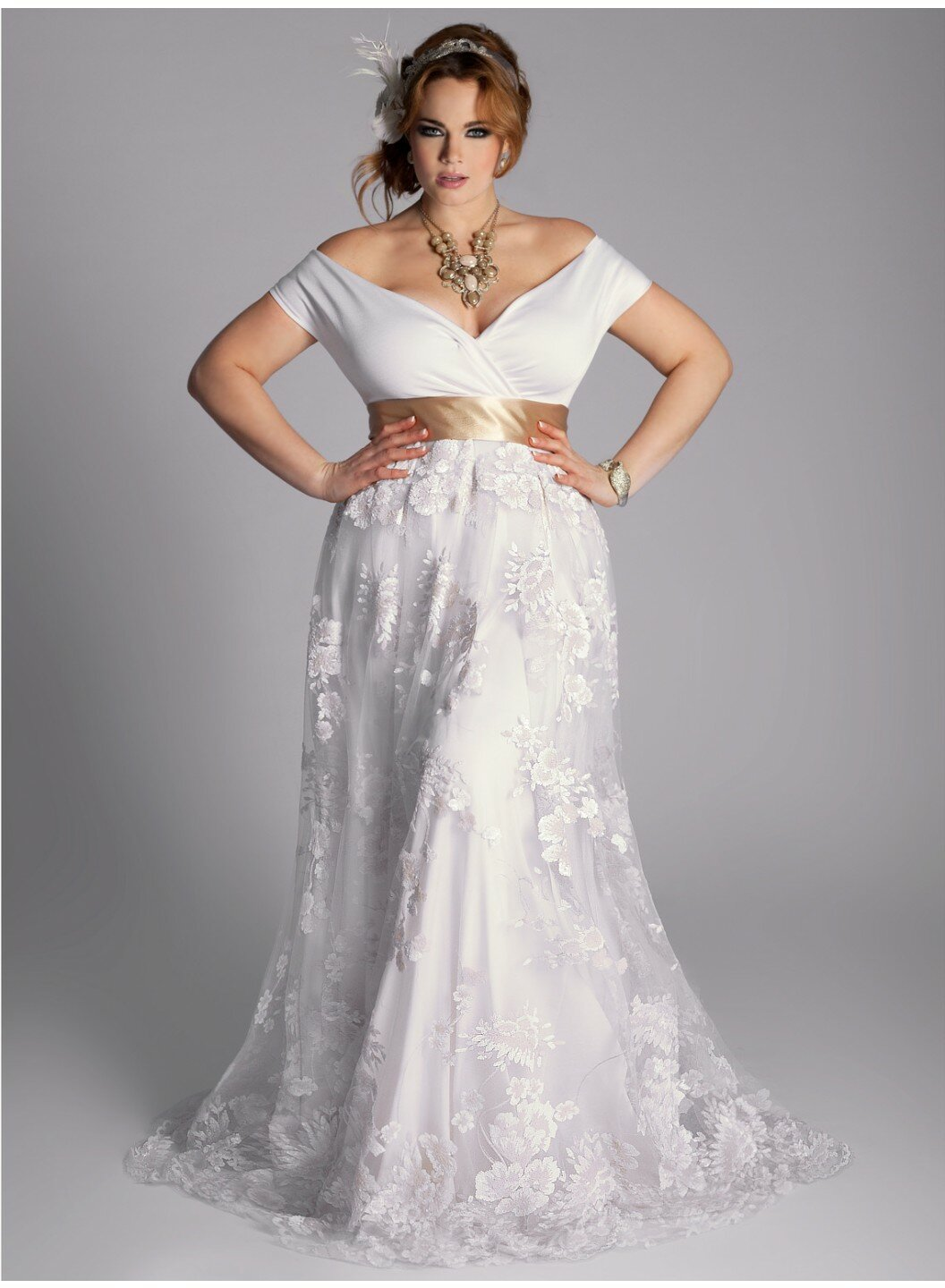 Retro Wedding Dresses Plus Size Photo   1