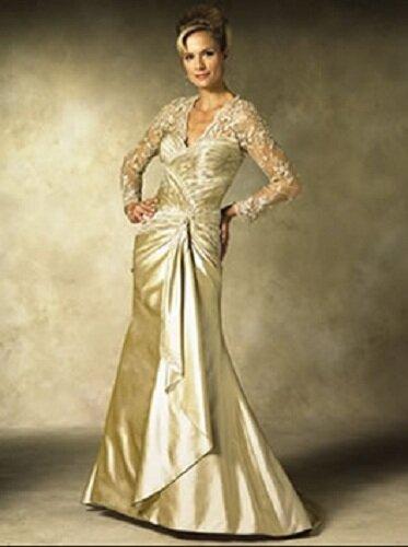 Second wedding dresses for older brides pictures ideas for Wedding dresses for 40 year old brides