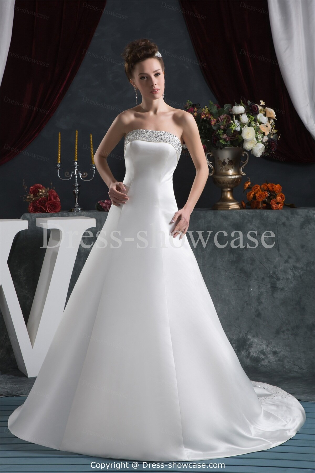 Strapless wedding dresses with corset back pictures ideas for Strapless bustier for wedding dress