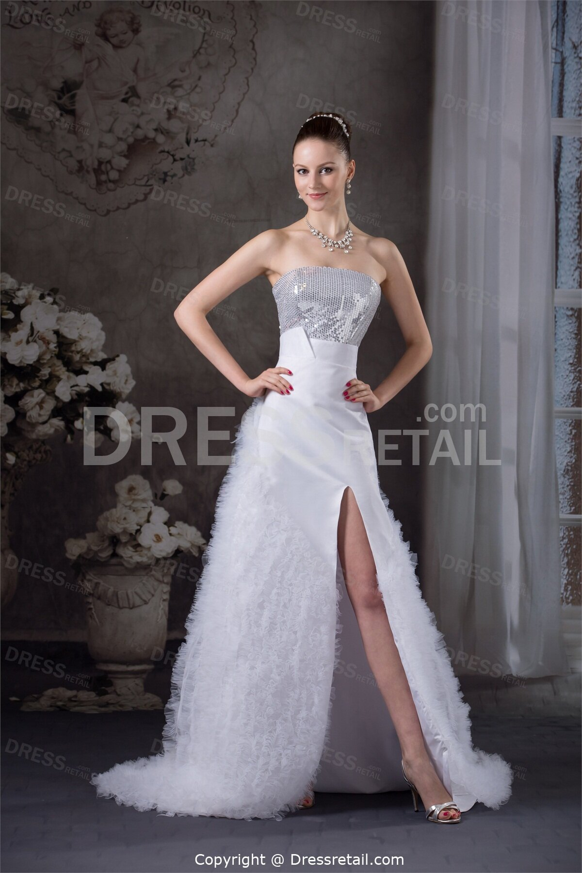 Strapless wedding dresses with corset back cocktail for Best bustier for strapless wedding dress