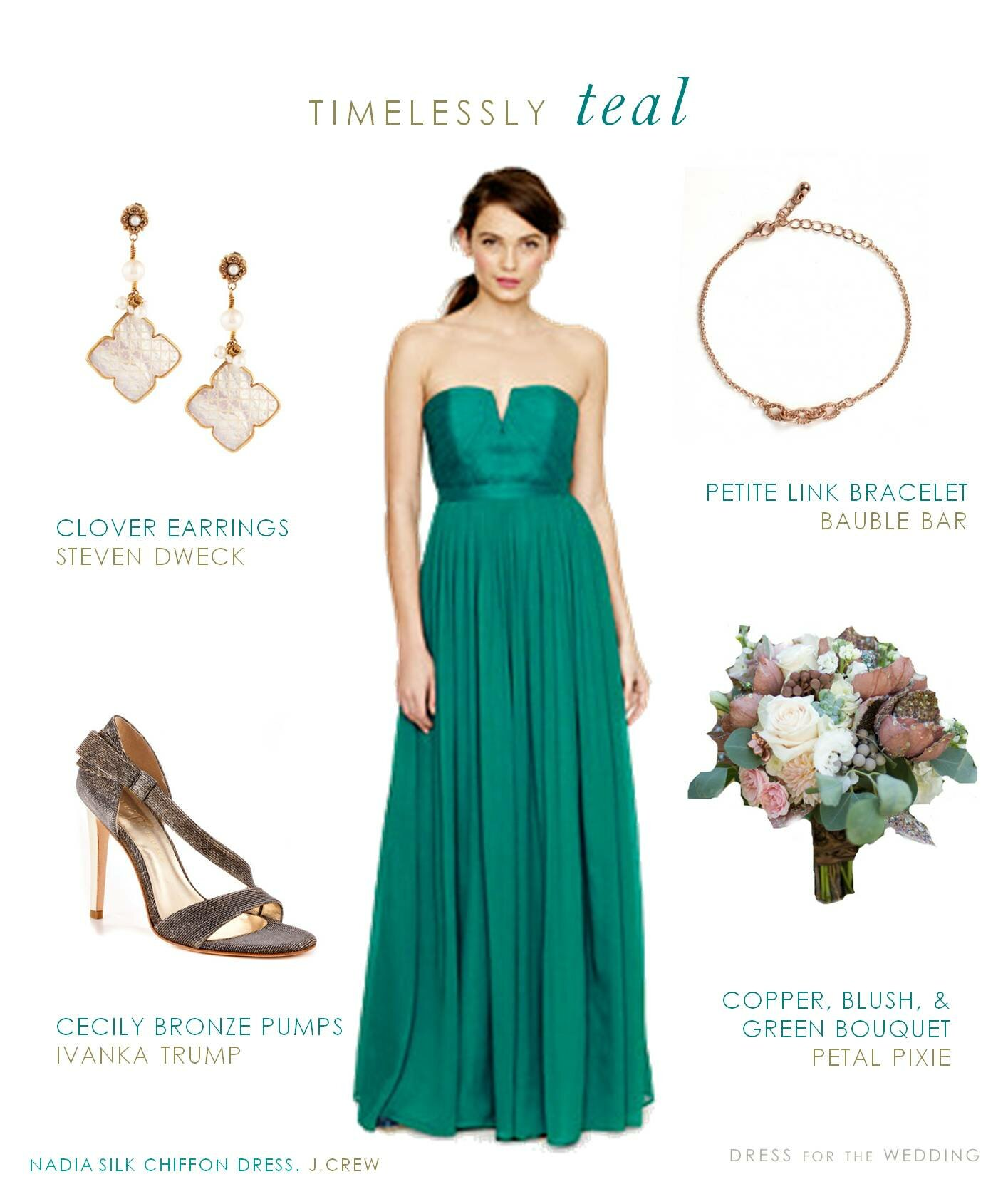 Teal dresses for wedding Photo - 8