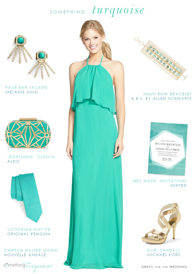 Turquoise dresses for weddings Photo - 10