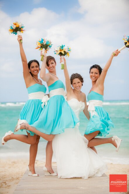 Turquoise dresses for weddings Photo - 7