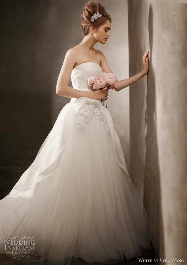 Pink Wedding Dresses David S Bridal : Blush wedding dress davids bridal vera wang dresses
