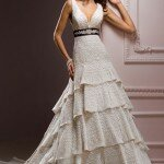 Vintage satin wedding dresses Photo - 1