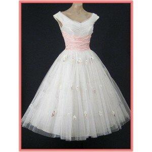Vintage wedding dresses tea length Photo - 9