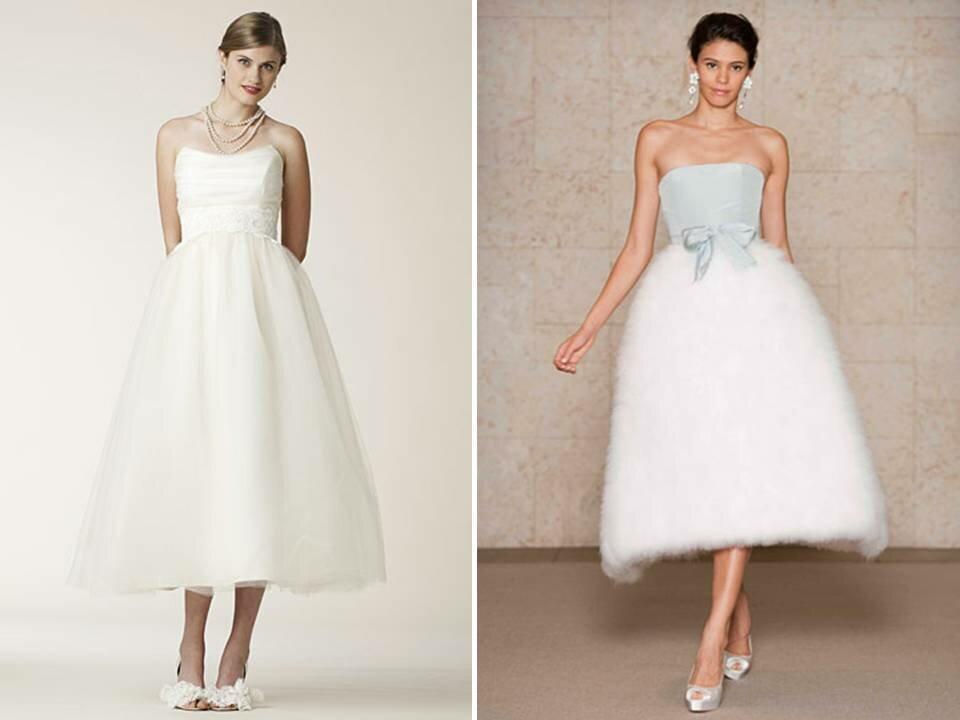 Vintage wedding dresses tea length Photo - 2