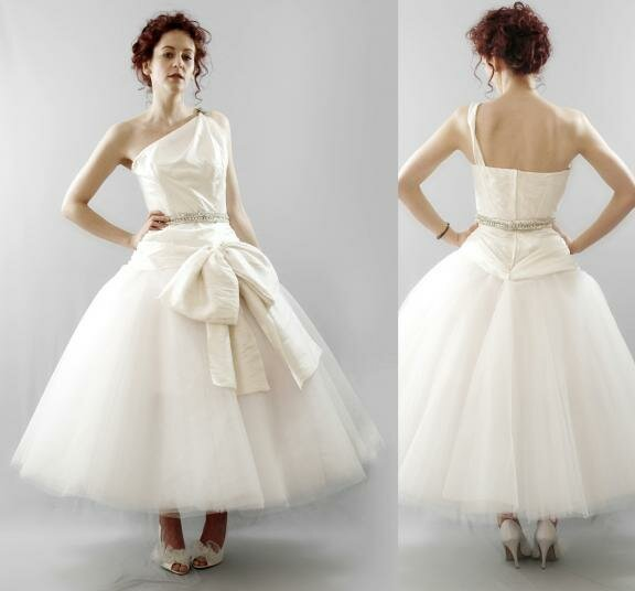 Vintage wedding dresses tea length Photo - 5