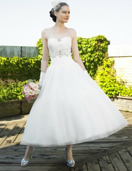 Vintage wedding dresses tea length Photo - 8