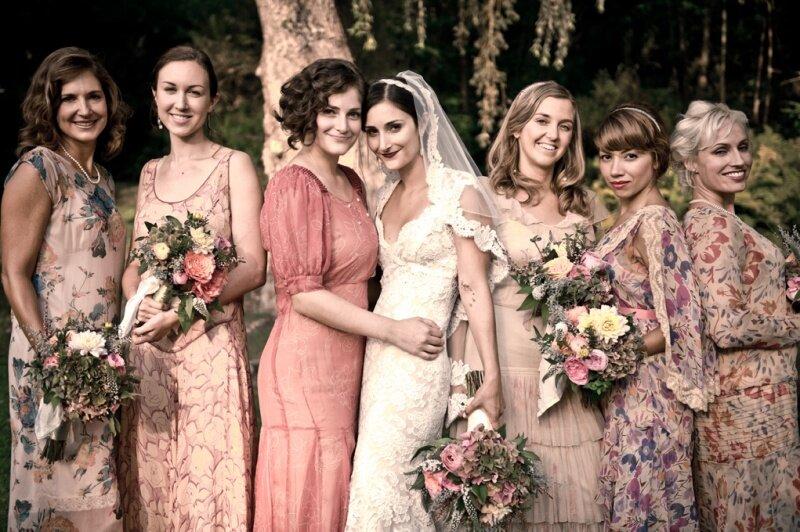 Vintage wedding party dresses Photo - 3