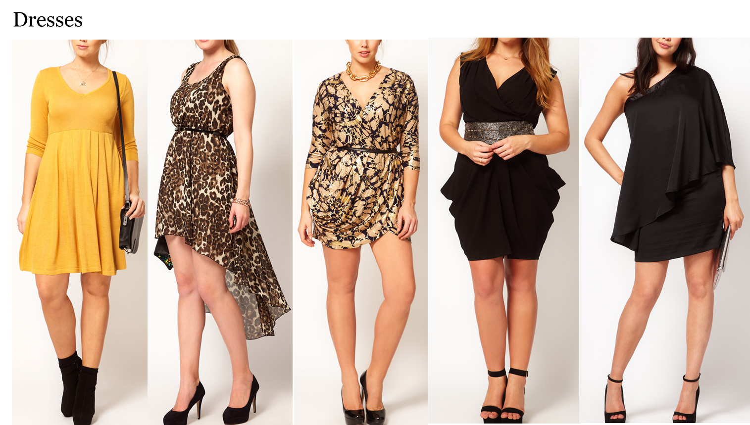 Dress styles for the apple shaped body