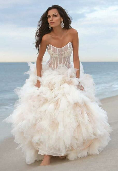 Wedding dresses for beach wedding: Pictures ideas, Guide to buying ...