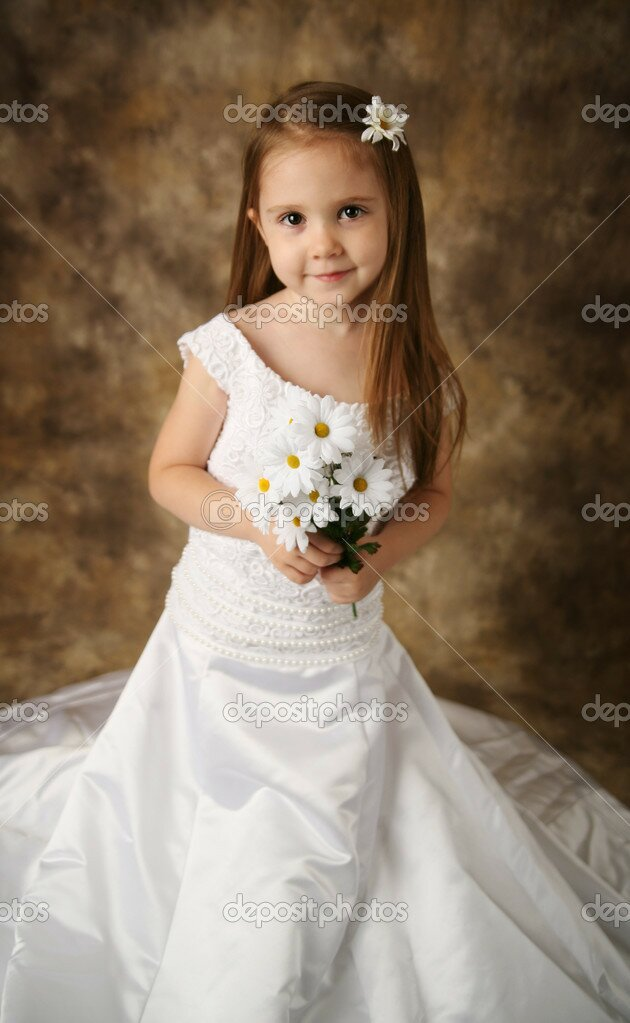 Wedding dresses for little girls pictures ideas guide to for Wedding dresses for young girls