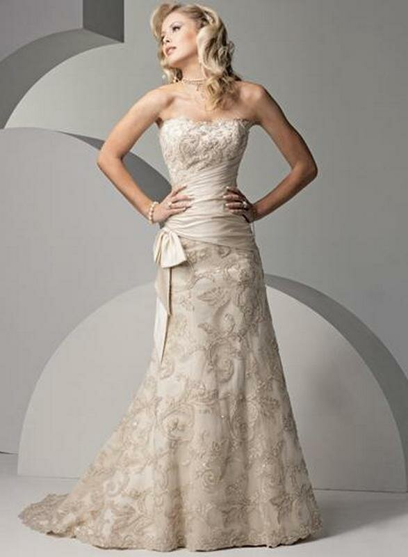 Wedding Dresses For Older Brides Second Marriage Photo   1