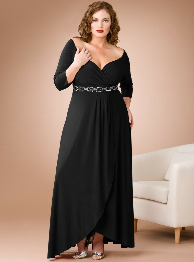 Wedding dresses plus size with sleeves Photo - 4