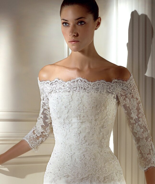 Wedding dresses plus size with sleeves Photo - 6