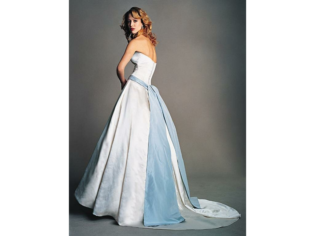 Wedding dresses with blue sash pictures ideas guide to for Blue sash for wedding dress