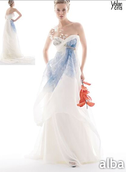 Wedding Dresses With Color Accent Photo 1