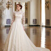 Wedding dresses with lace and sleeves Photo - 1