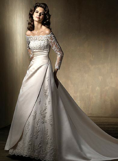 Wedding dresses with lace and sleeves Photo - 3
