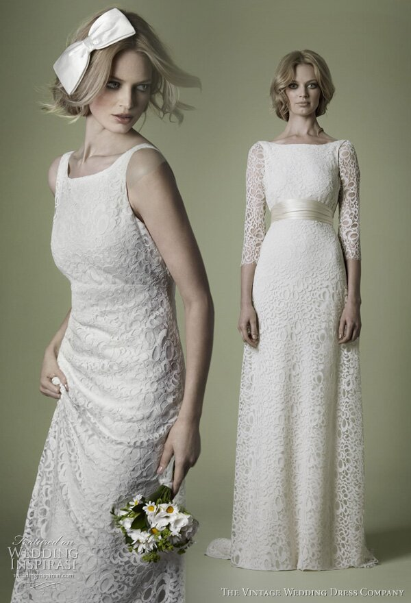 Wedding dresses with lace and sleeves Photo - 8