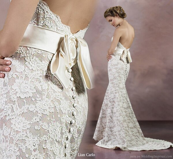 Wedding dresses with lace cap sleeves Photo - 8