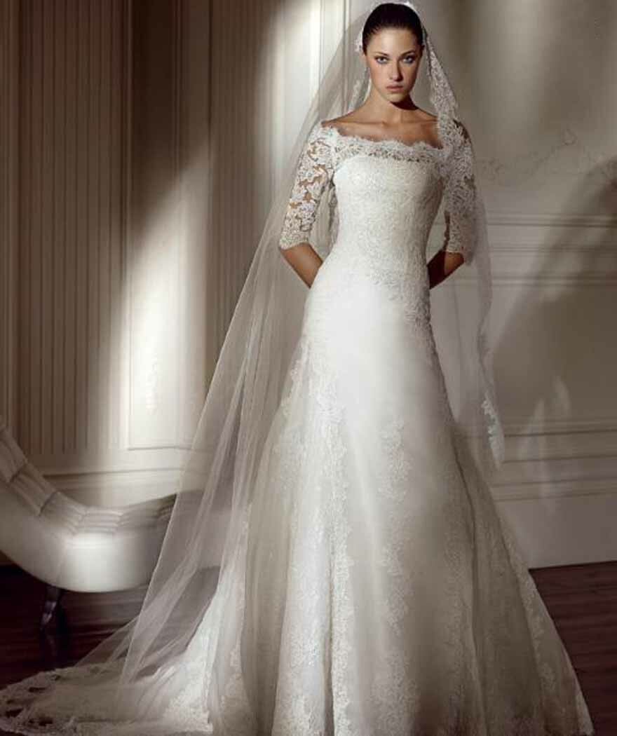 Wedding dresses with lace sleeves Photo - 7